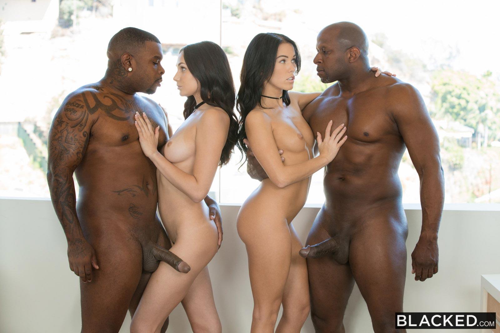Megan Rain Interracial Orgy