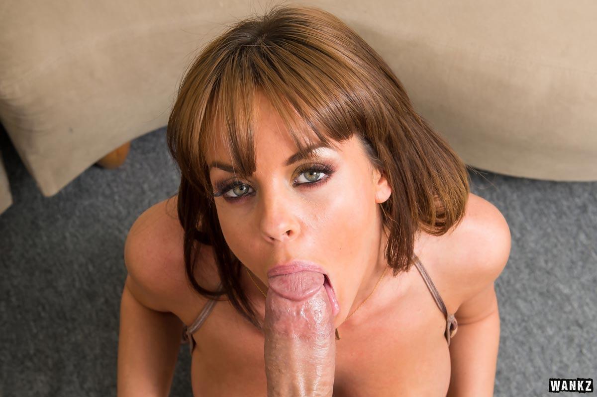 Wankz carrie ann gets cum all over her lips 1
