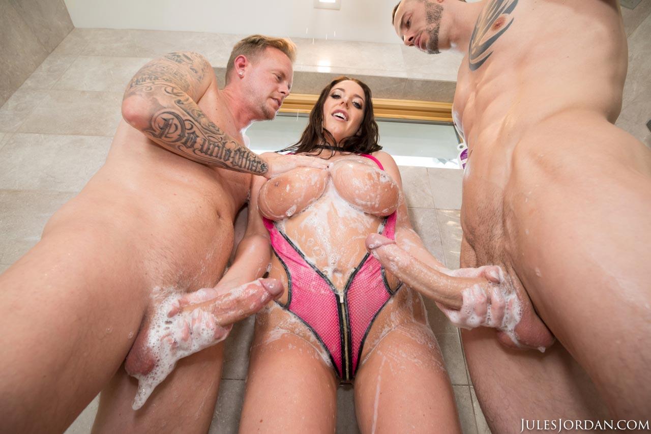 Angela white busty aussie fucking a huge cock 4